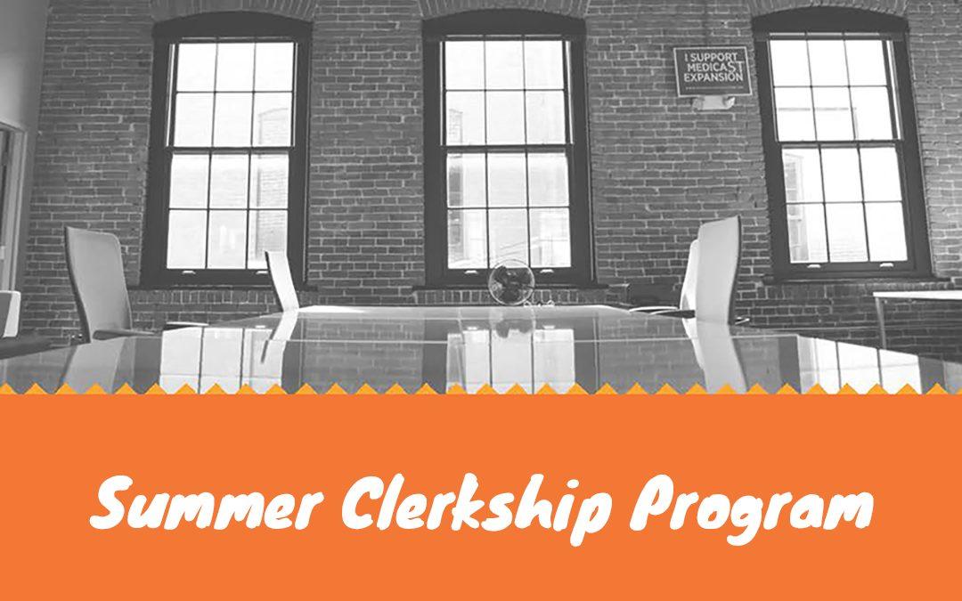 Summer Clerkship Program